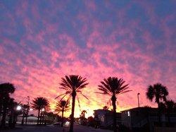 Sunset over downtown Jax Beach