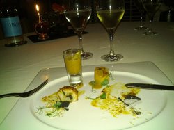 a prawn and crab experience for starters
