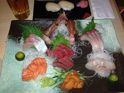 premium sashimi and nigiri