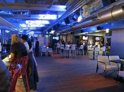 Wide open bar area