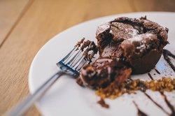 Dark Chocolate Fondant, Salted Praline & Homemade Vanilla Ice Cream