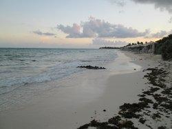 The beach area.