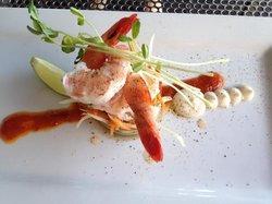 Prawn & bug tail salad - mmm-mmm!!