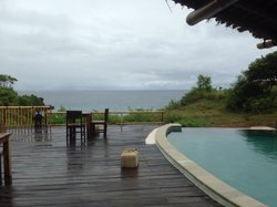 Sea view at Milo's home.