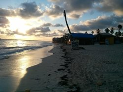 Local beach stores at end of Iberostar property