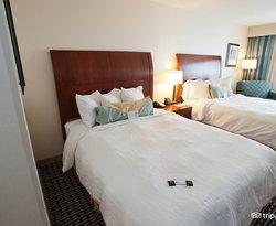 The Double Queens Room at the Hilton Garden Inn Denver Downtown