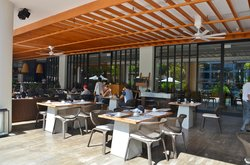Choice of indoor or outdoor seating at breakfast