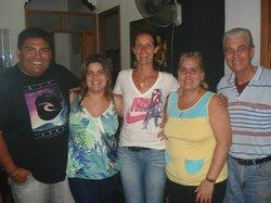Con Gise, Maritza y Manolo