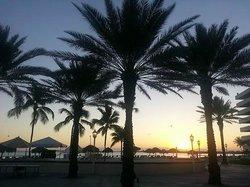 Sunrise looking east across the beach