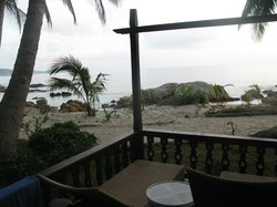 View of great snorkelling beach from Seaview Room 317