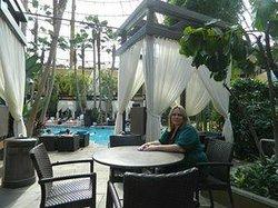 The Pool area at Harrah's Resort Hotel