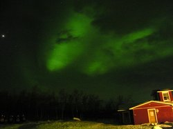 Aurora as viewed from the front door