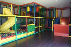 Jungle gym inside Sunrise Playroom.