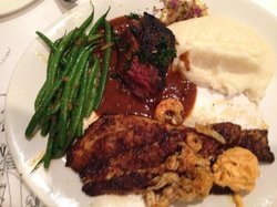 Blackened Filet and Red Fish