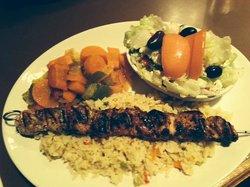 My favorite!  Chicken Souvlaki!  Delicious! Bill's Sticky Fingers  |  210 Saskatchewan Ave, Port