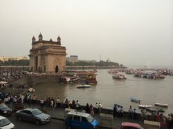 View from the hotel at the Gateway of India