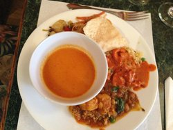 Buffet selection.  Butter chicken awesome! The Chilli Chutney  |  935 Rosser Avenue, Brandon, Ma