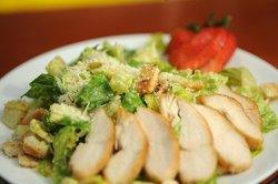 Pop's signature Caesar Salad