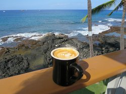 A great latte with a view.