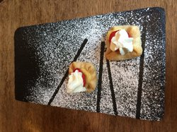 Dessert pastry offered by chef