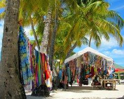 petite boutiques sur la plage