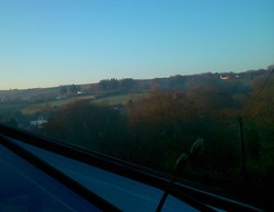 sunrise from bedroom window