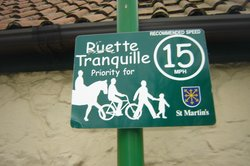 Sign outside La Bellieuse Self Catering Cottages