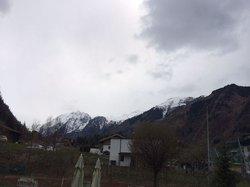 Aussicht zum Kitzsteinhorn von der Terrasse aus