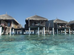 View from water of villa 107