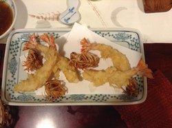 Tempura with prawn head