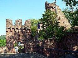 Gaststatte Burgterrasse Auf Der Burg Clingenburg