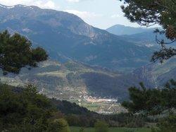 Castellane, vue du camping