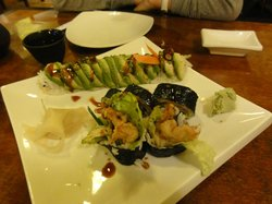 Caterpillar roll and crab roll