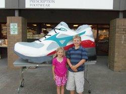Outside the Shoe Store