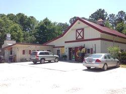 Restaurant entrance - looks like an old barn