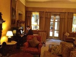 The Hunt's room playing some piano