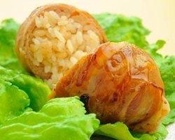 Grilled Pork Wrapped Riceball Sendaiya