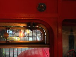 Quirky old time bus windows