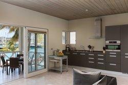 Beachfront suite open plan kitchen
