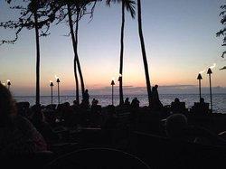 dusk settles on lavalava