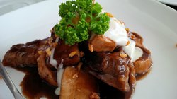 Adobo with Kesong Puti. A must-try!
