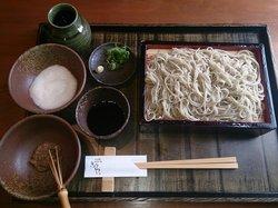 Stone mill pull Handmade sobadokoro Kyoya