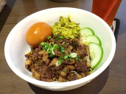 Tasty taiwanese braised pork rice