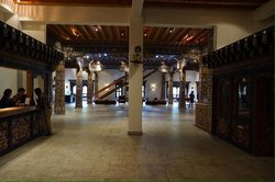 Lobby and reception is covered with hand-carved Bhutanese artwork.