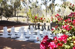 Giant Chess at the Campground