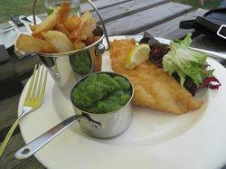 Fish, chips and mushy peas!