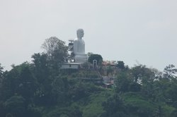 Budha on the top of the mountain
