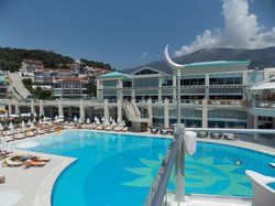 main hotel and pool