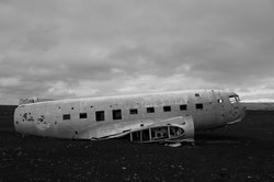 Crashed DC 3 Plane