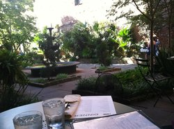 Great courtyard dining!
